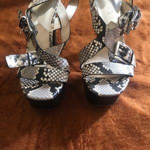 Michael Kors snake skin sandals